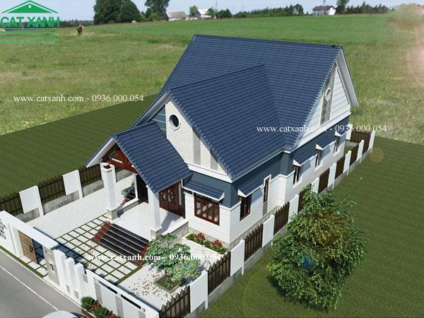 thiết kế nhà cấp 4 mái ngói