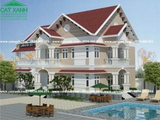 Mẫu thiết kế biệt thự sân vườn 2 tầng tại Vũng Tàu
