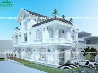 Mẫu thiết kế biệt thự bán cổ điển đẹp tại quận 9