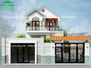 Thiết kế biệt thự 2 tầng mặt tiền 7m tại Tây Ninh