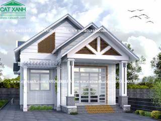 Thiết kế biệt thự cấp 4 mái ngói sân vườn tại Vũng Tàu