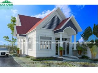 5 mẫu thiết kế biệt thự trệt sân vườn mái ngói đẹp