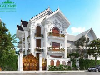 Mẫu thiết kế biệt thự cổ điển 3 tầng tại Vũng Tàu.