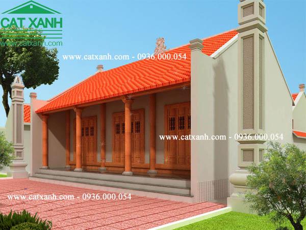 mẫu thiết kế nhà thờ họ 3 gian