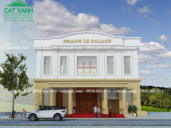 Mẫu thiết kế nhà hàng tiệc cưới tại Đồng Nai