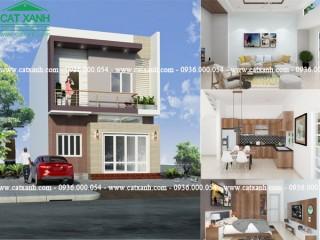 Thiết kế nhà phố 1 trệt 1 lầu tại Mỹ Xuân BRVT