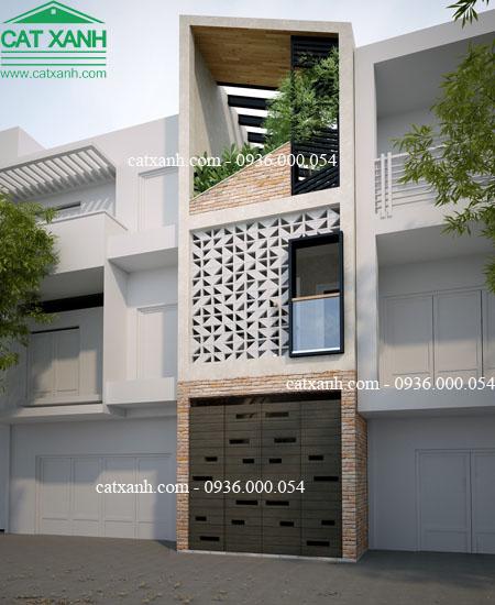 mẫu thiết kế nhà phố mặt tiền 3,5m