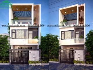 Mẫu thiết kế nhà phố 3 tầng phong cách hiện đại