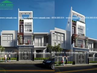 Mẫu thiết kế nhà phố hiện đại mặt tiền 5m tại Bình Tân