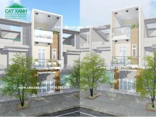 Mẫu thiết kế nhà phố 1 trệt 2 lầu tại quận 2