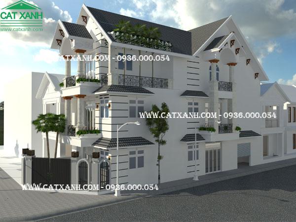 Mẫu thiết kế nhà phố 3 tầng 2 mặt tiền tại BRVT