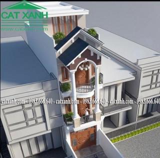 Thiết kế nhà phố phong cách cổ điển 3 tầng đẹp