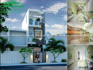 Mẫu thiết kế nhà phố mặt tiền 4,5m tại quận Gò Vấp