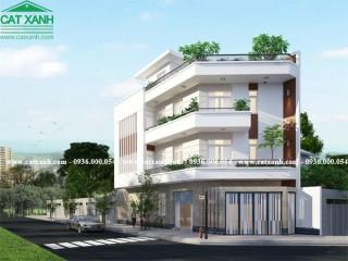 Tư vấn thiết kế nhà phố 2 mặt tiền 3 tầng hiện đại