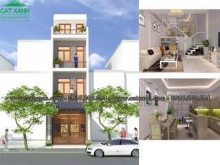 Mẫu thiết kế nhà phố 3 tầng 1 tum tại quận Thủ Đức