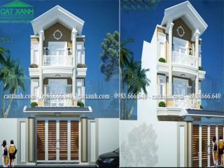 Tư vấn thiết kế nhà phố 3 tầng bán cổ điển tại Bà Rịa Vũng Tàu