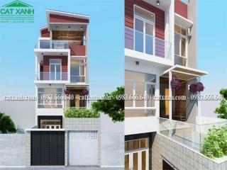 Mẫu thiết kế nhà phố 4 tầng mặt tiền 6m tại Cần Thơ