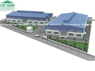 Thiết kế xây dựng nhà xưởng thép tiền chế tại Long An