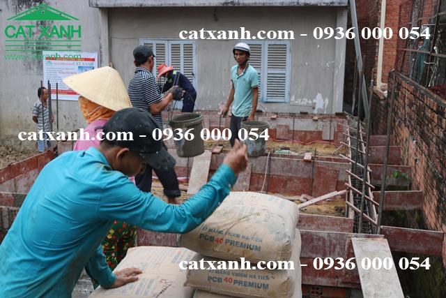 Thi công đổ đà kiềng nhà cô Bạc - quận 9