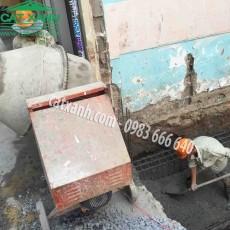 Công trình thi công nhà phố chị Dung giai đoạn khởi công