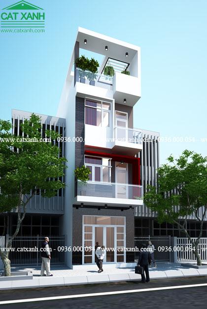 6 mẫu thiết kế nhà phố hiện đại 4 tầng đẹp