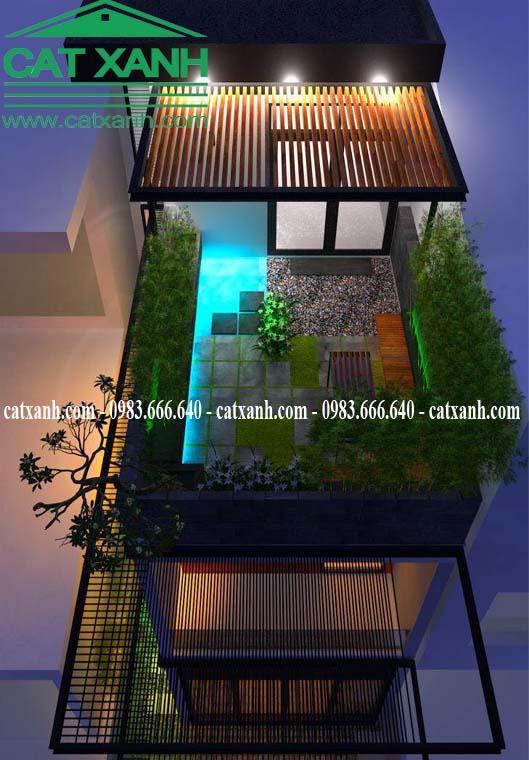 Mẫu thiết kế nhà phố hiện đại mặt tiền 6m tại quận 2