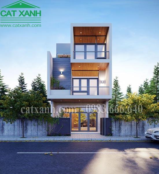 Mẫu thiết kế nhà phố mặt tiền 4m 3 tầng tại Bình Tân