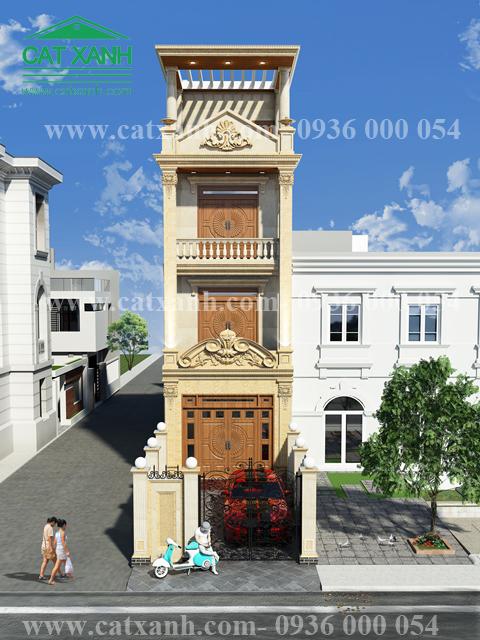 Thiết kế nhà phố phong cách tân cổ điển ở quận 9