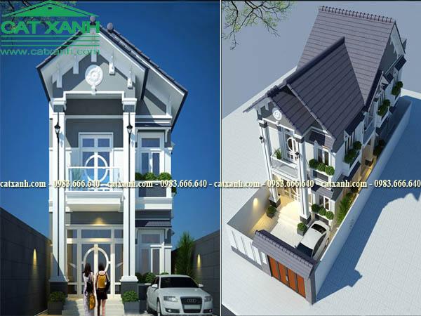 Mẫu thiết kế biệt thự phố hiện đại nhà anh Hải tại Vũng Tàu