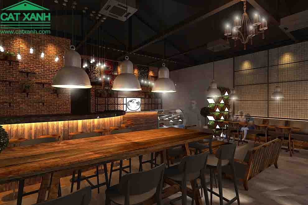 Mẫu thiết kế quán cafe River đẹp