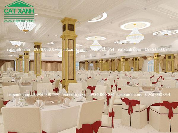 Thiết kế thi công xây dựng nhà hàng tiệc cưới đẹp
