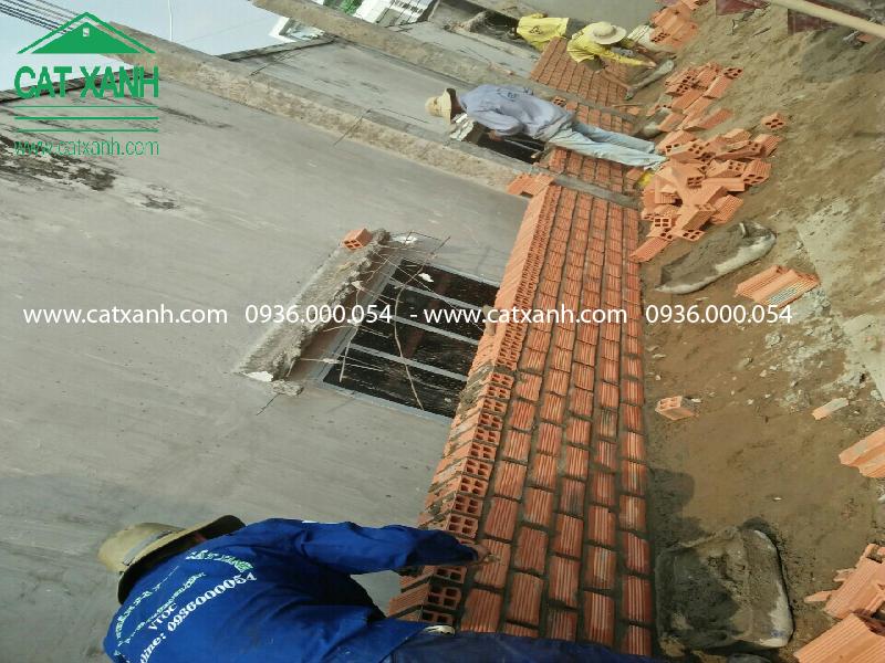 Thi công đổ bê tông tầng 1 nhà cô Bạc quận 9