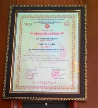 Cát Xanh nhận giải thưởng top doanh nghiệp xuất sắc Asean