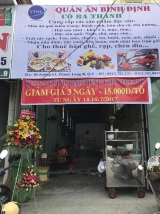 VTOC-Cát Xanh mừng khai trương quán ăn Bình Định